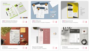 Resume print templates