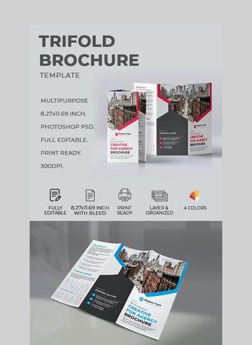 Trifold Design Brochure Template