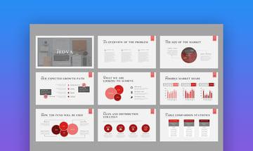 Jedva - Modern PowerPoint Pitch Deck Template