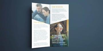 College Brochure Design Templates Free Download InDesign