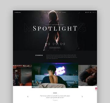 Cinerama - WordPress Actor Theme