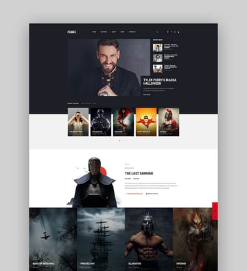 Filmax - Cinema  Movie WordPress Acting Website Theme