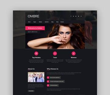 OMBRE - Bold WordPress Theme