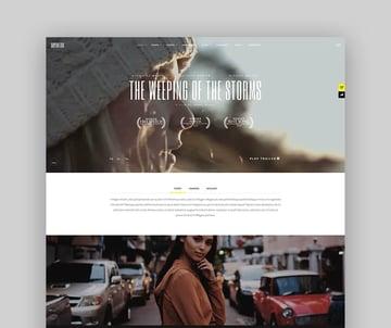 Superflick - An Elegant Video Oriented WordPress Theme For Actors