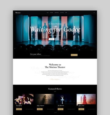 Theater - Elegant WordPress Acting Website Theme