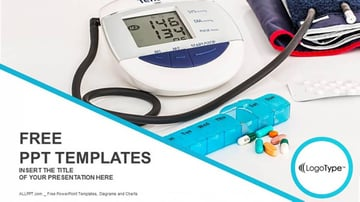 Digital Hypertension Template PowerPoint Health Free