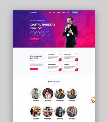 Exhibz - Event Conference WordPress Theme For Speakers