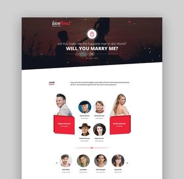 LoveBond - Wedding and Wedding Planner WordPress Theme