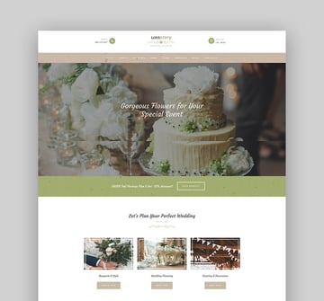 Love Story  A Beautiful Wedding and Event Planner WordPress Theme