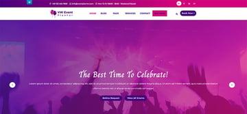 VW Event Planner - Free WordPress Theme