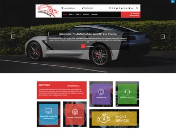 Automobile Car Dealer - Free Taxi WordPress Theme