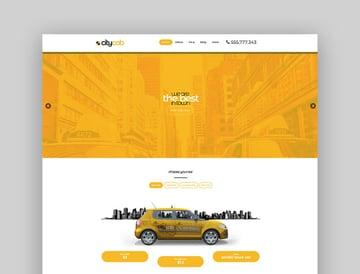 CityCab - Taxi Company Website Template WordPress