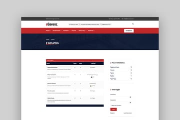 eGovenz - City Government Forum WordPress Theme