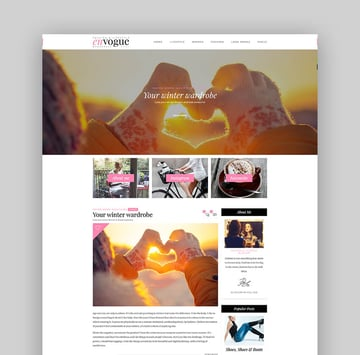 EnVogue  Fashion  Lifestyle WordPress Blog Theme