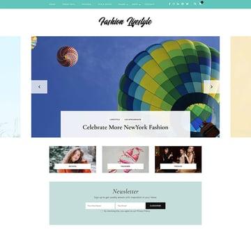 Fashion Lifestyle - Free WordPress Blog Theme