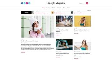 Lifestyle Magazine - Free WordPress Theme