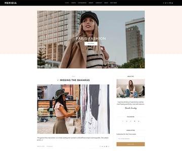 Meridia - Free Lifestyle WordPress Blog Theme