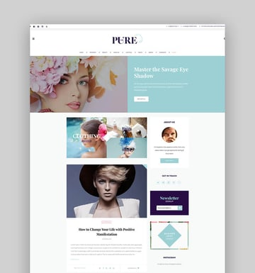 Pure - Fashion and Lifestyle WordPress Theme for Blogging