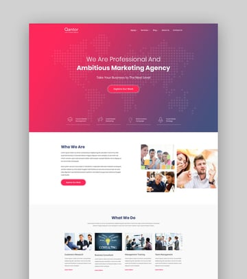 Qantor - Creative Agency Office WordPress Theme
