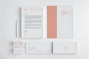 Minimalistic brand identity package example