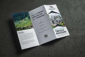 Free Real Estate Tri-Fold Brochure Design