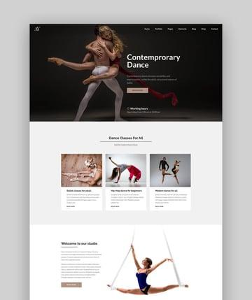 Creative Multipurpose WordPress Theme For Dance Studios