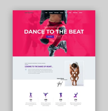 Dance Studio - Bold WordPress Theme
