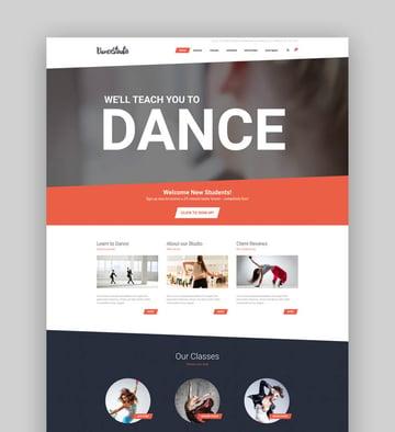 Dance Studio - WordPress Theme for Dancing Schools  Clubs