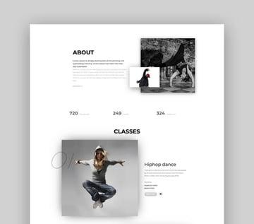 Danlet Academy WordPress Theme For Dance Studios