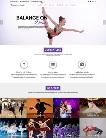 Nataraj Dance Studio - WordPress theme