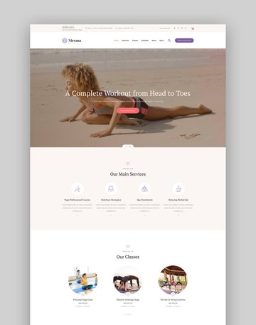 Nirvana  Yoga Studio and Dance Club WordPress Theme