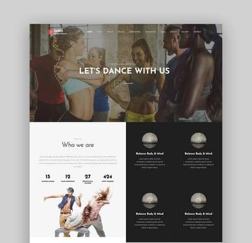 Zaro - Creative Multipurpose Onepage WordPress Theme For Dance Studios