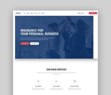 Antverp  An Insurance  Financial Advising WordPress Theme