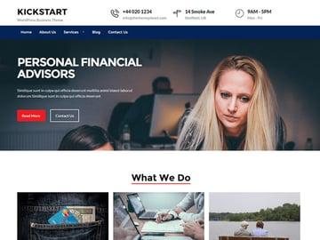 Kickstart business - WordPress theme