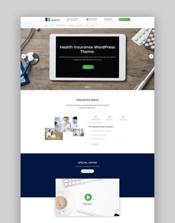 Health Insurance - Business WordPress Theme