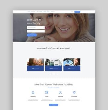 Insurance Agency Finance  Business WordPress Theme