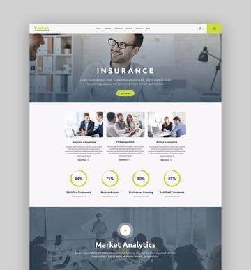 Yankee - Insurance  Consulting WordPress Theme