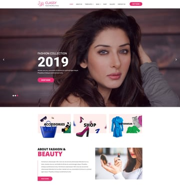 Classy Lite - Free Model Agency WordPress Theme