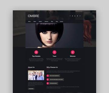 OMBRE - Model Agency Fashion WordPress Theme