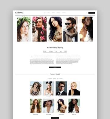 Top Model - Agency and Fashion WordPress Theme