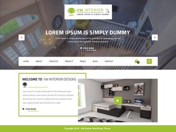 VW Interior Designs - Free Interior Design WordPress Theme