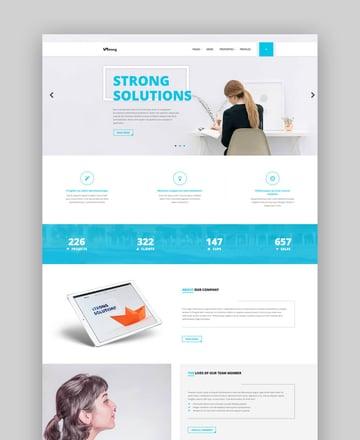 Strong - Accountant WordPress Theme