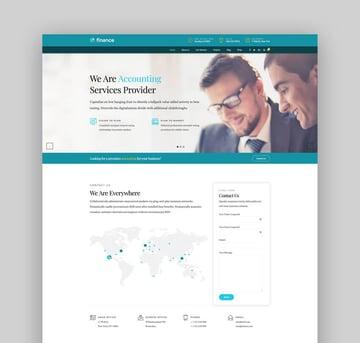 Finance - Accounting  Consulting WordPress Theme