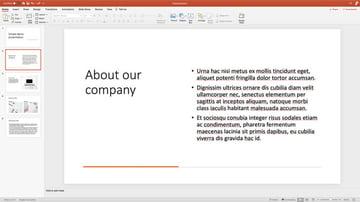 simple text slide