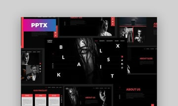 Black Creative Google Slides Template