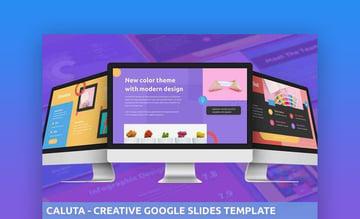Caluta - Creative And Bold Google Slides Template