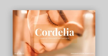 Cordelia - Creative Google Slides Template