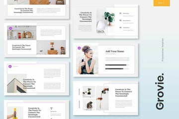 Groovie Google Slides Template With Text Hierarchy