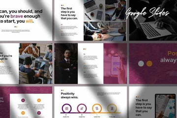 ABHE Creative Google Slides Template Example With Various Slide Layouts