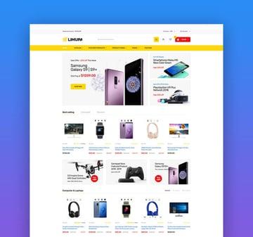 Limupa - Electronics  Technology Shopify Theme